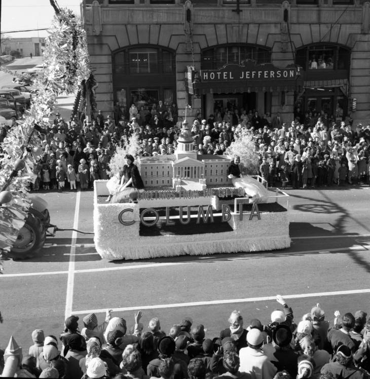 City of Columbia float 1956