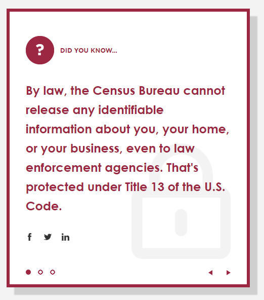 Did you know, the Census keeps your data private?