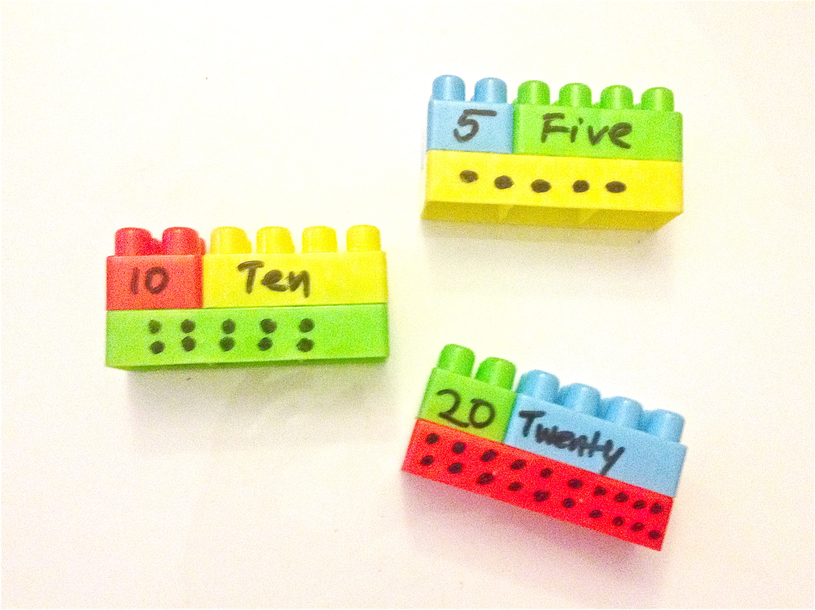 Matching Quantity and Number with LEGOs