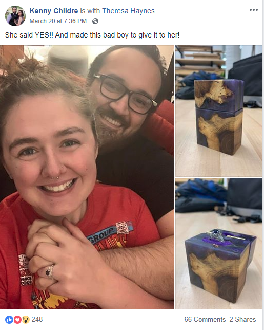 Richland Library's Makerspace and Engagement Ring Box