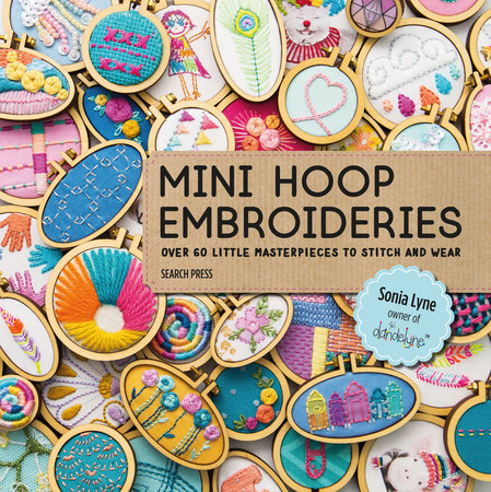 Book cover: Mini Hoop Embroideries