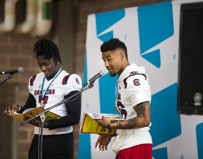 Gamecock Athletes Read to a Crowd of Young Fans