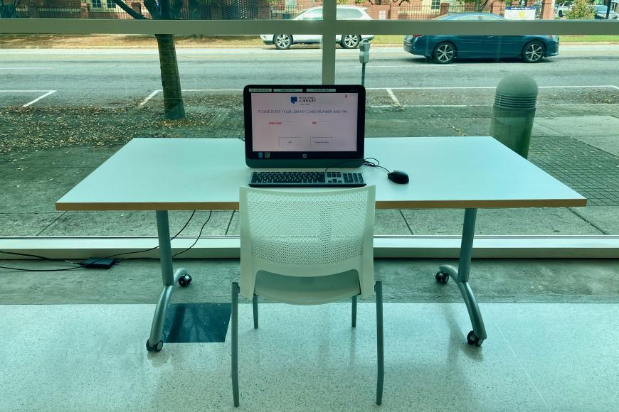 Individual computer table at Main