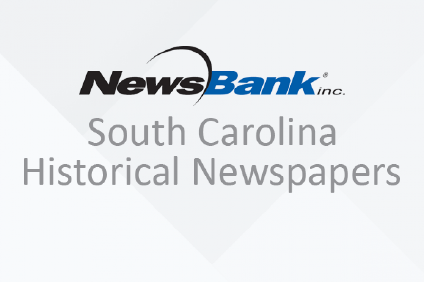 Newsbank South Carolina Historical Newspapers