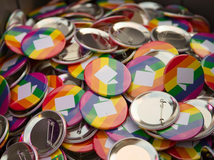 Richland Library pride buttons