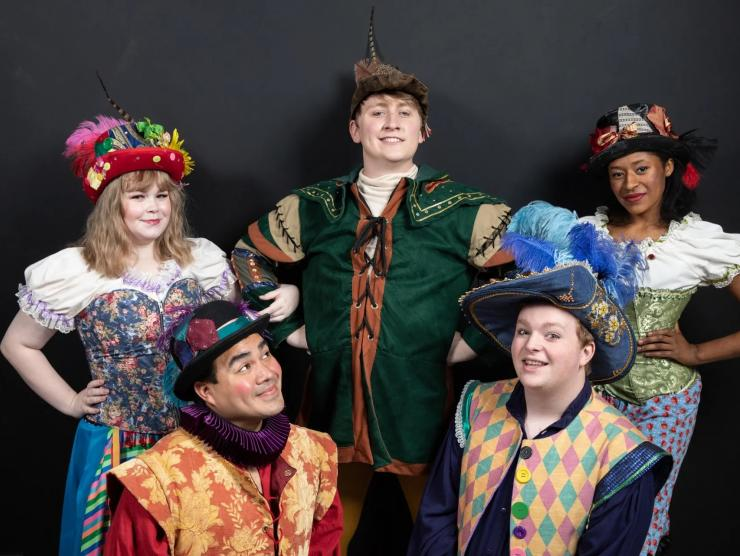 5 cast members from Columbia Children's Theatre adaptation of The Legend of Robin Hood