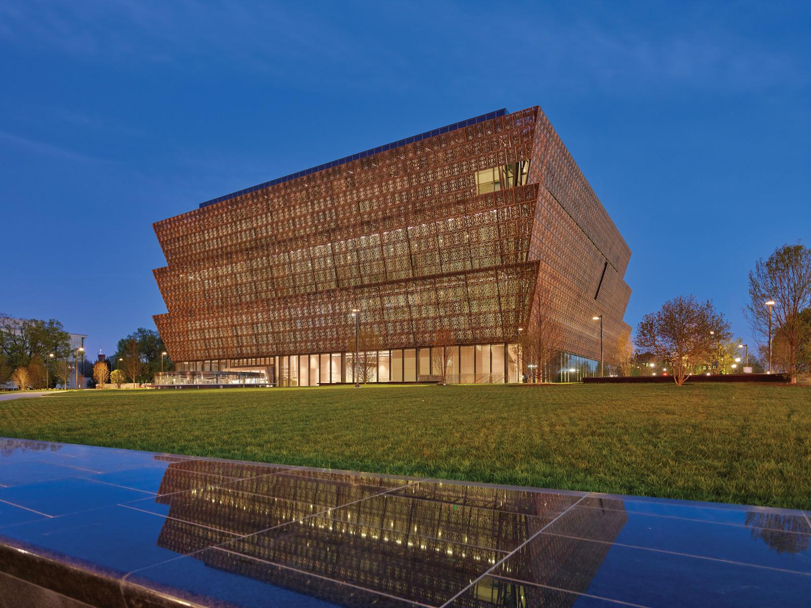 Exterior of National Museum of African American History and Culture building. Photo by Alan Karchmer