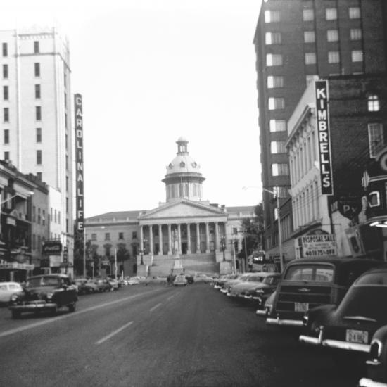 1200 block of Main Street, 1953