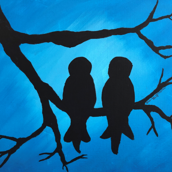 Nature Silhouette Painting