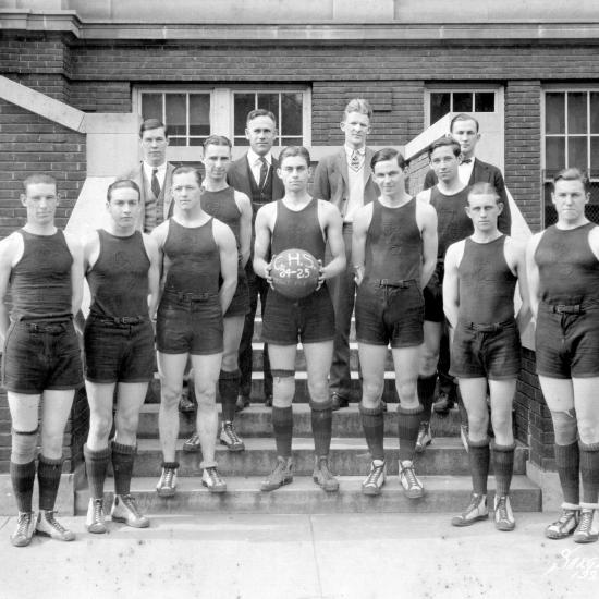 Columbia High School Basketball team, 1924.