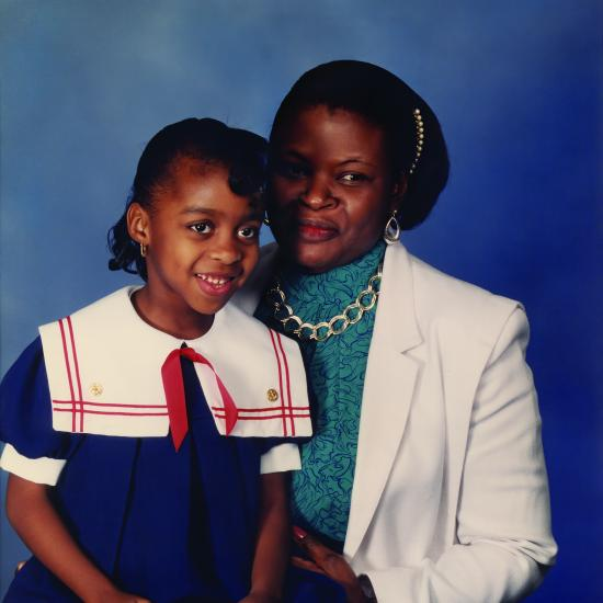 Lee Patterson and Her Mother in 1990