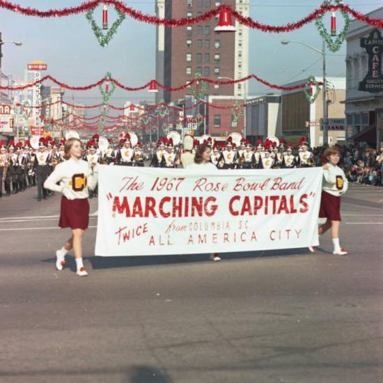 Marching Capitals marching band in the Carillon Parade
