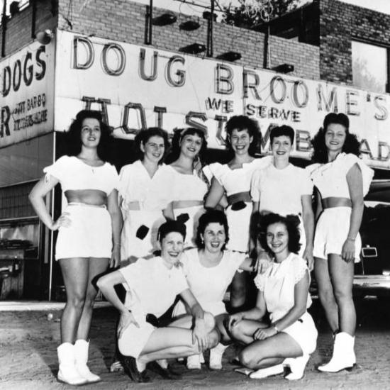 Waitresses at Doug Broome's