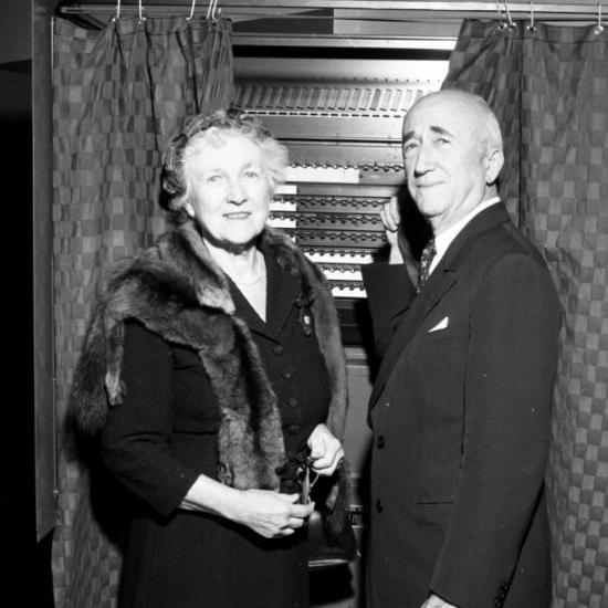 Maude and James Byrnes voting 1956