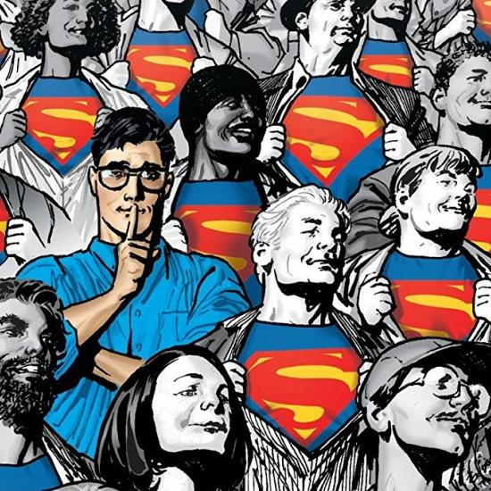 Cover art of Clark Kent standing in a crowd