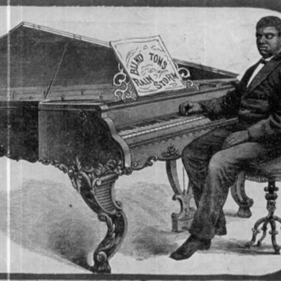 "Virtuosic pianist Thomas ""Blind Tom Wiggins"