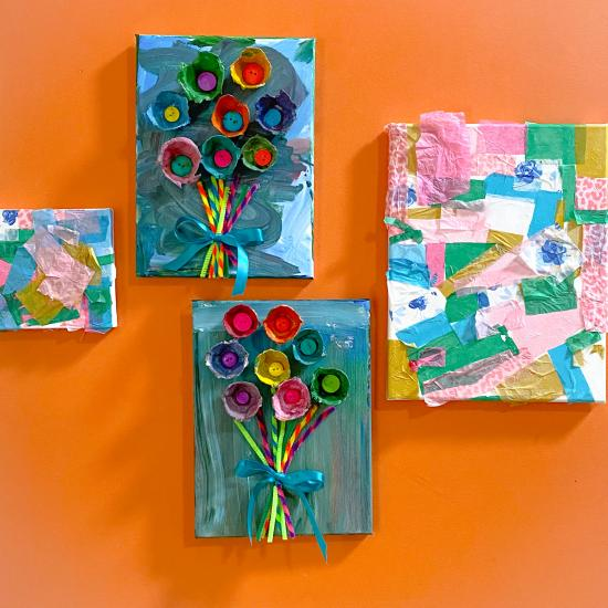 DIY Egg Carton Flower Bouquet